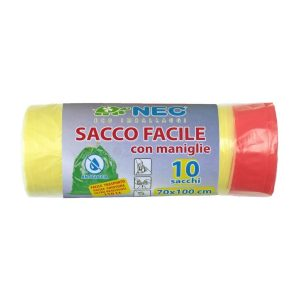sacco facile hd per raccolta differenziata 70x100 giallo